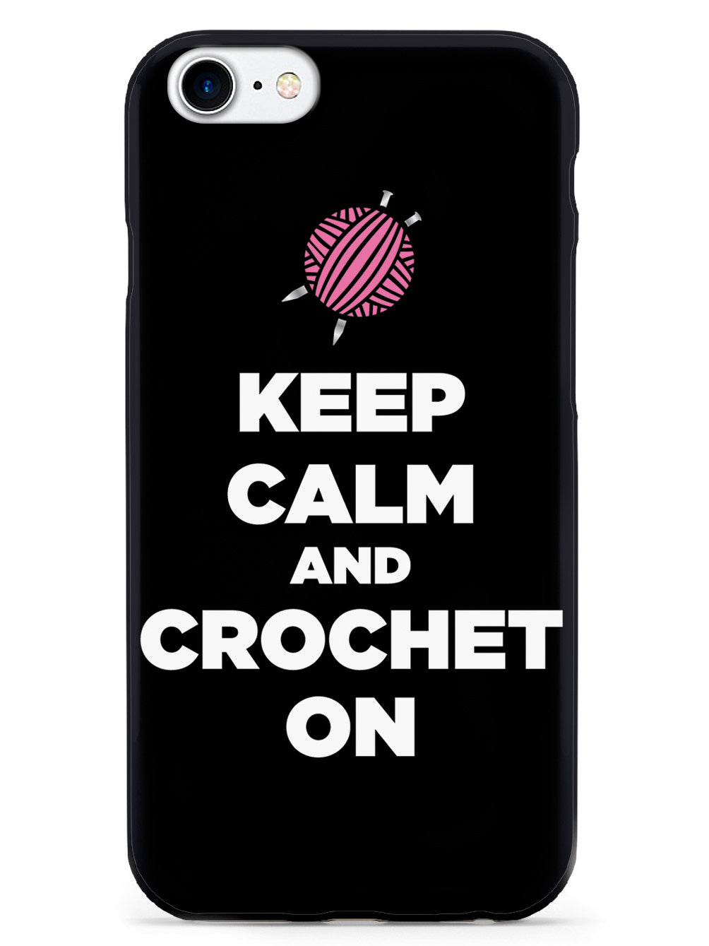 Keep Calm And Crochet On - Black Case