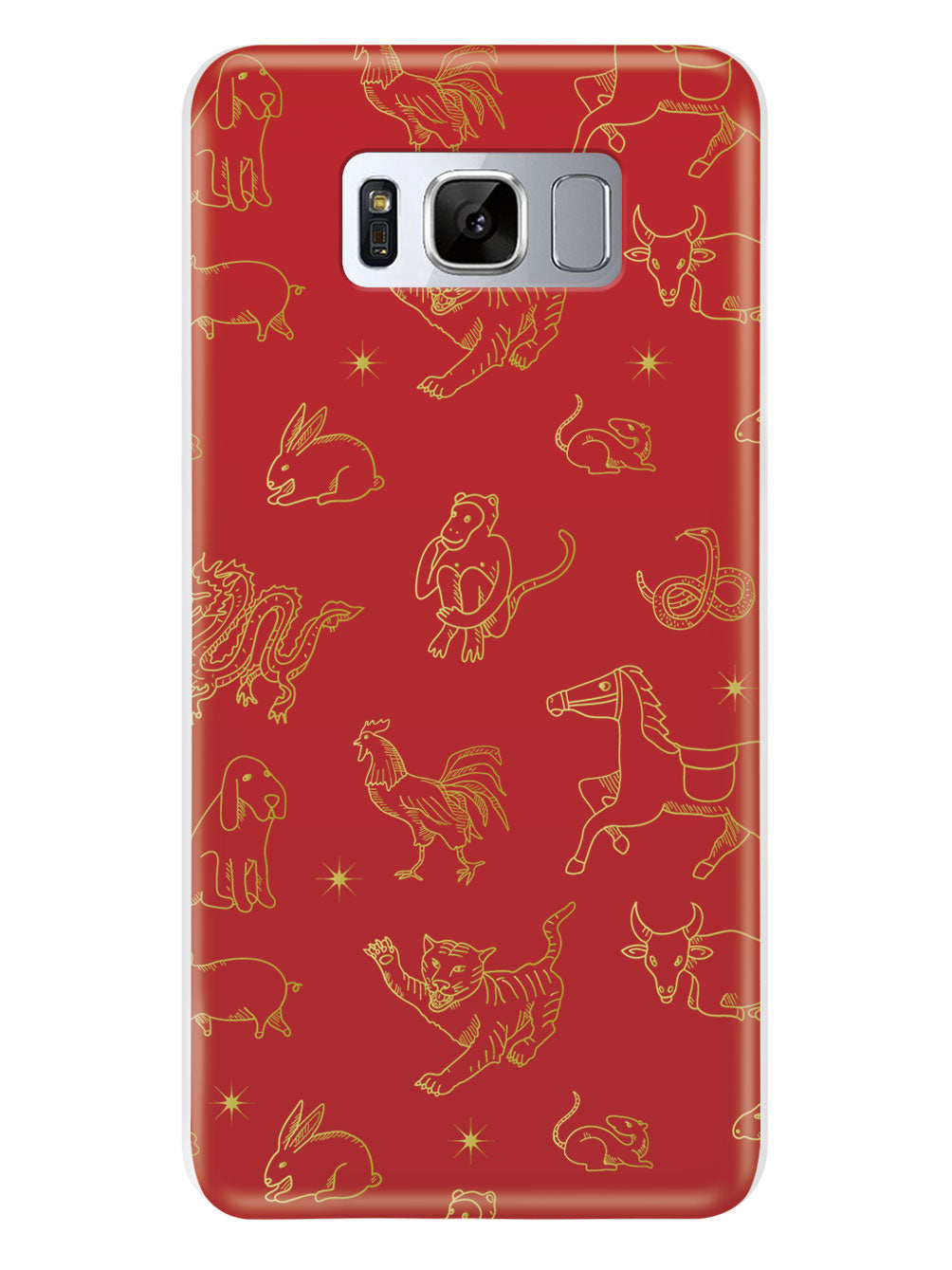 Chinese Zodiac Pattern - White Case