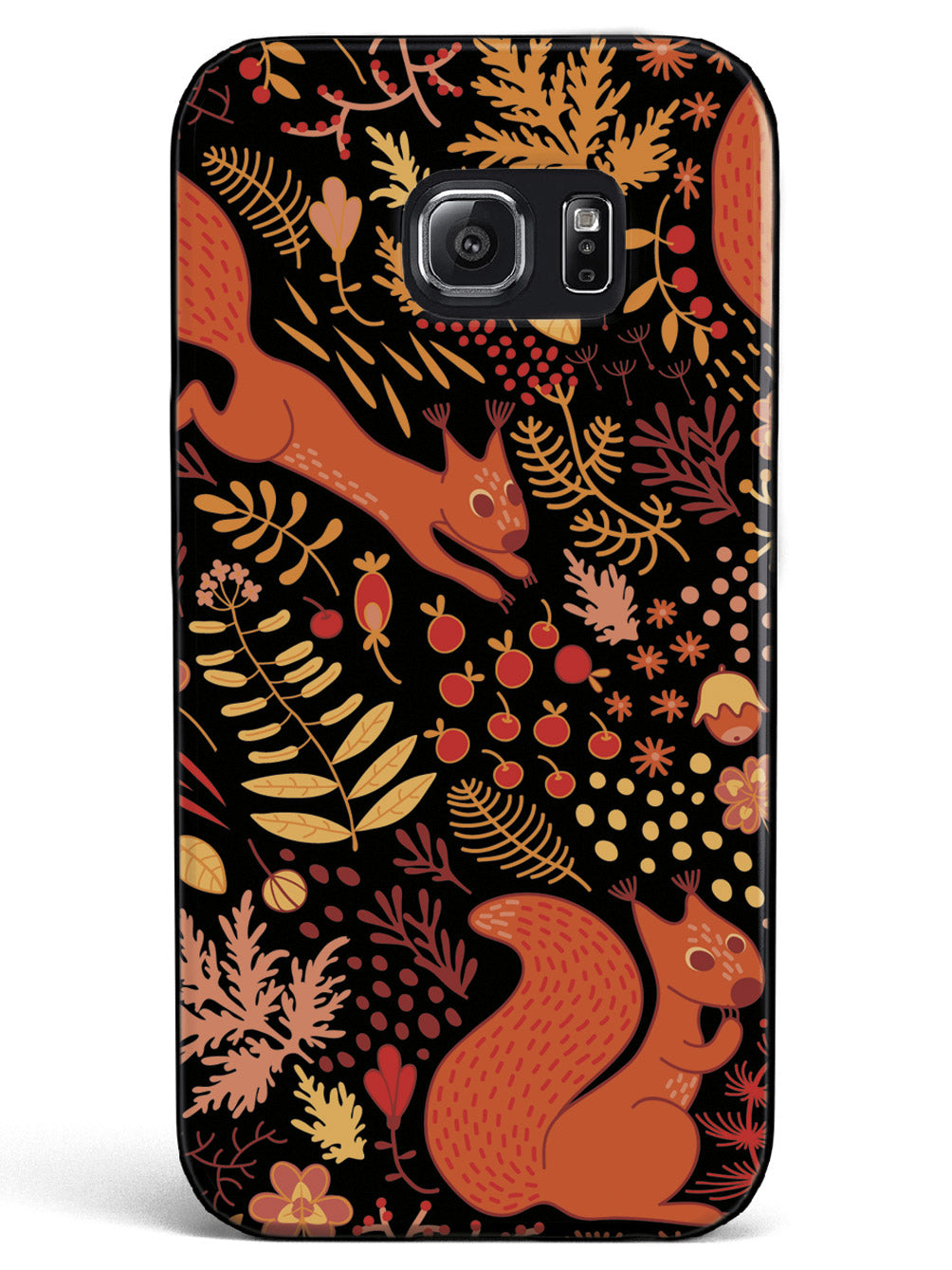 Squirrel Fall Pattern - Black Case