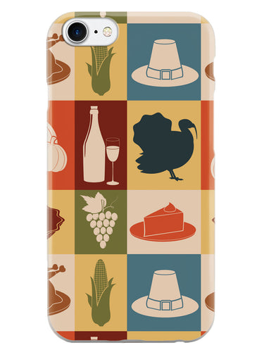 Thanksgiving Pattern - White Case