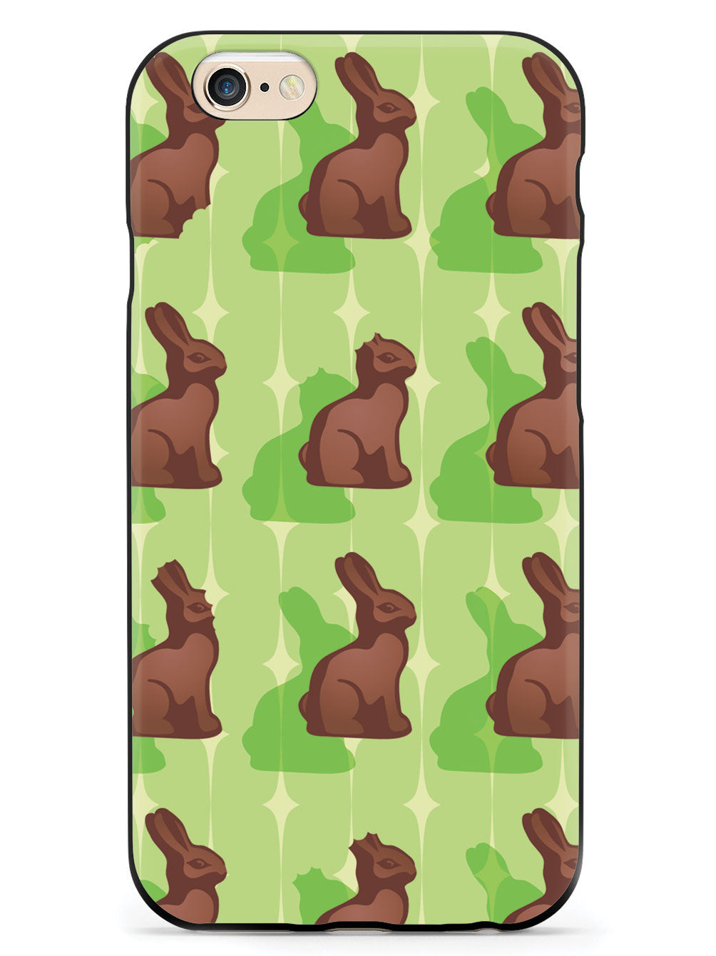 Green Chocolate Bunny - Black Case