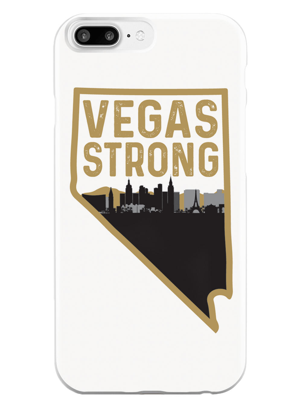 Vegas Strong - Nevada and City Silhouette - White Case