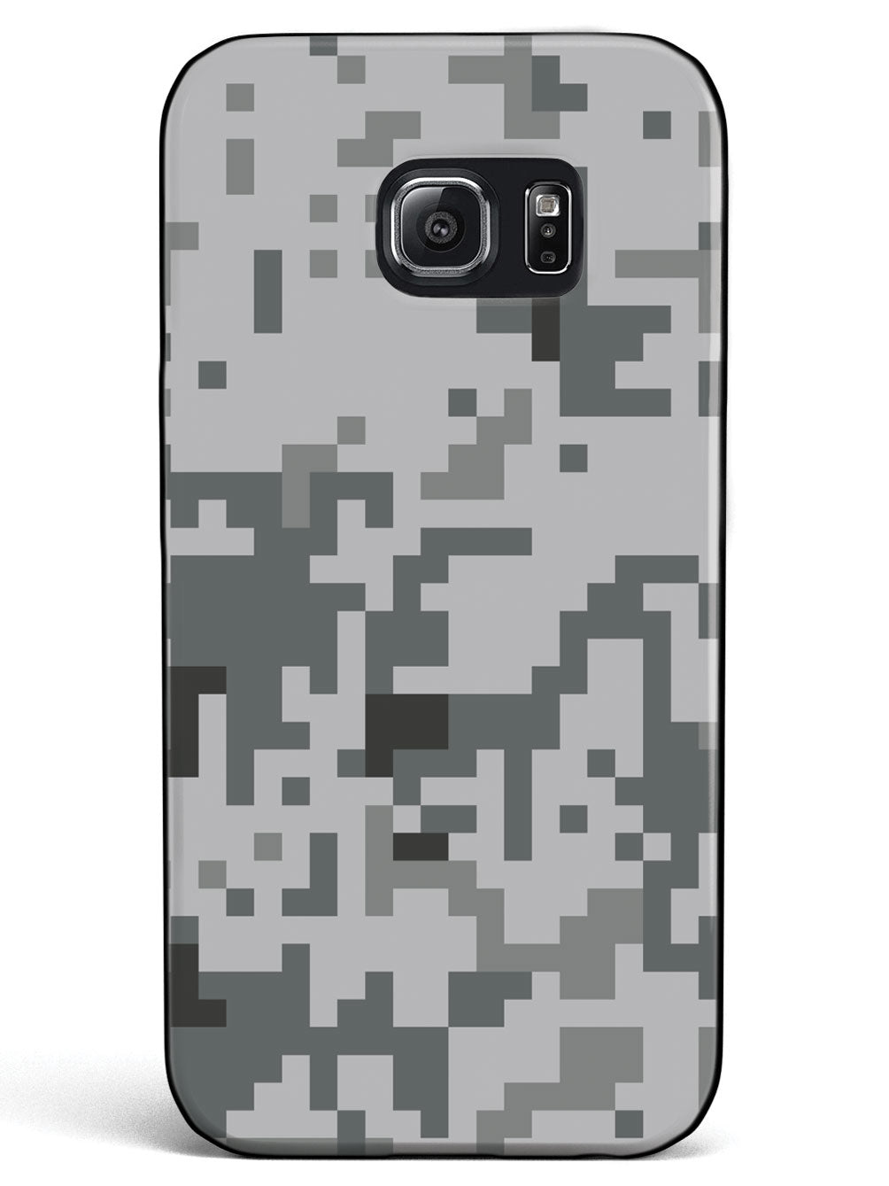 Grey Pixel Camouflage  - Black Case