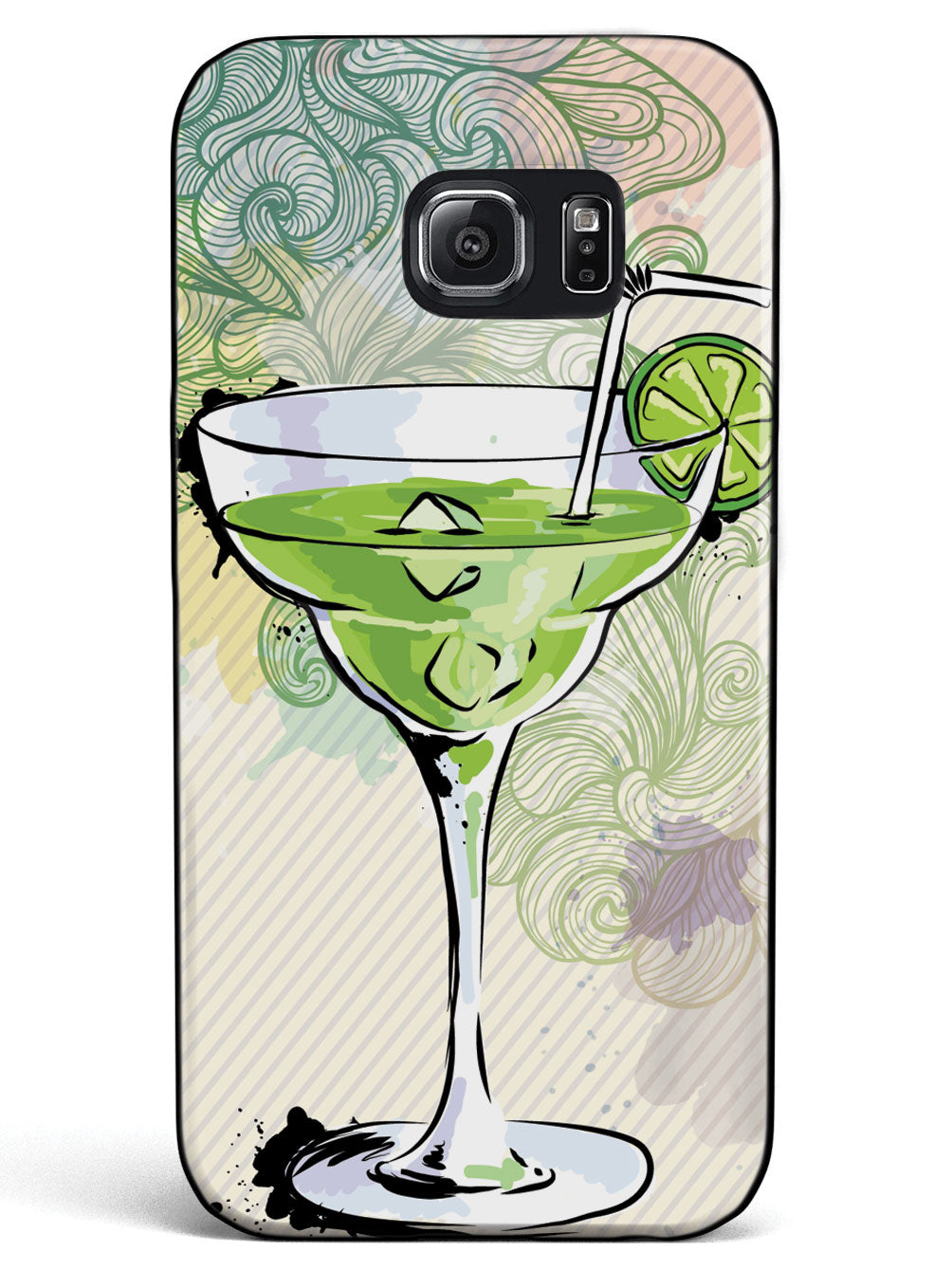 Watercolor Margarita - Black Case