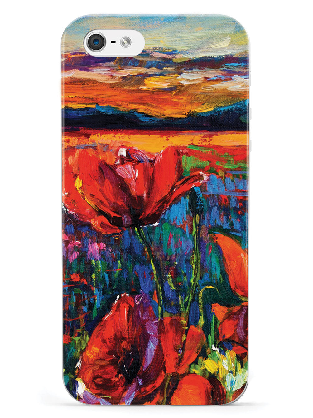 Red Tulips Impressionist Painting Case