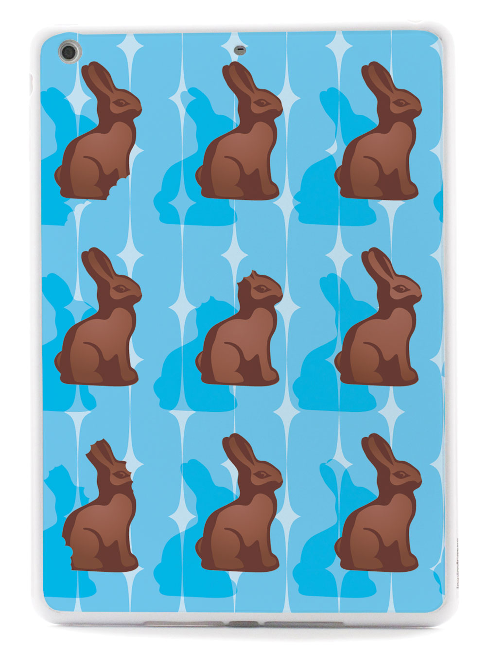 Blue Chocolate Bunny - White Case