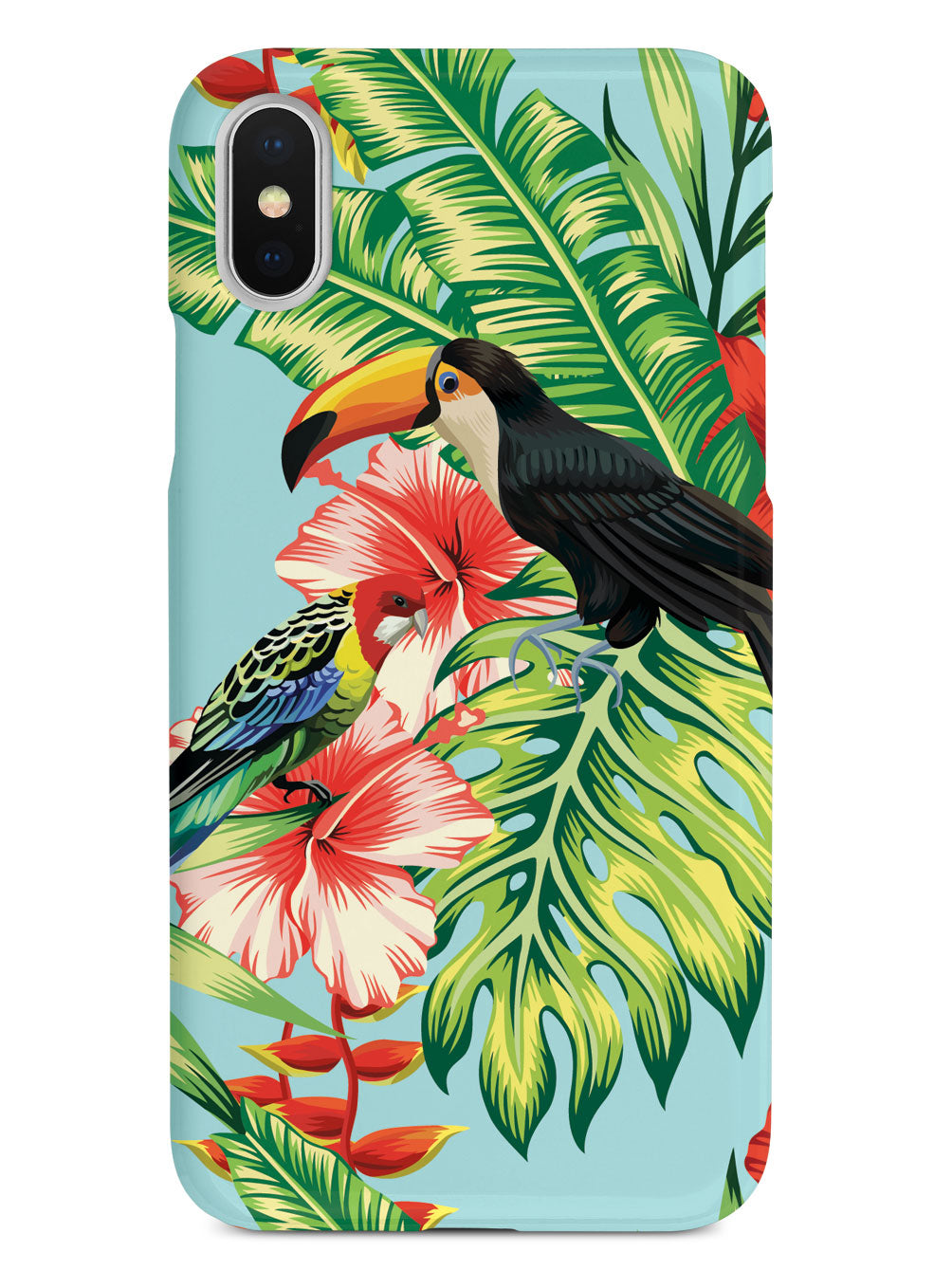 Hibiscus - Parrot and Tucan - Black Case