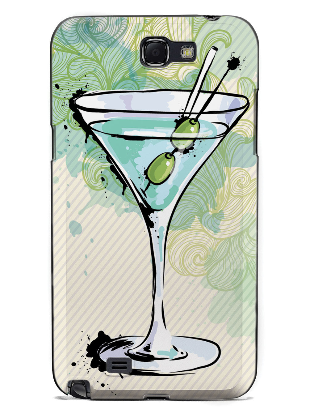 Watercolor Martini - Black Case