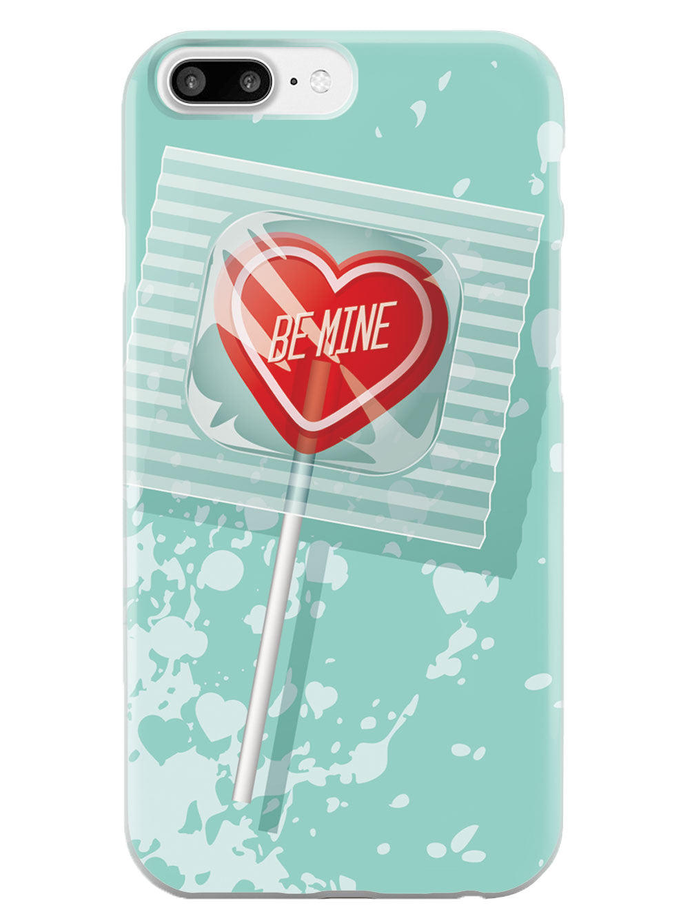 Be Mine Heart Lollipop - White Case