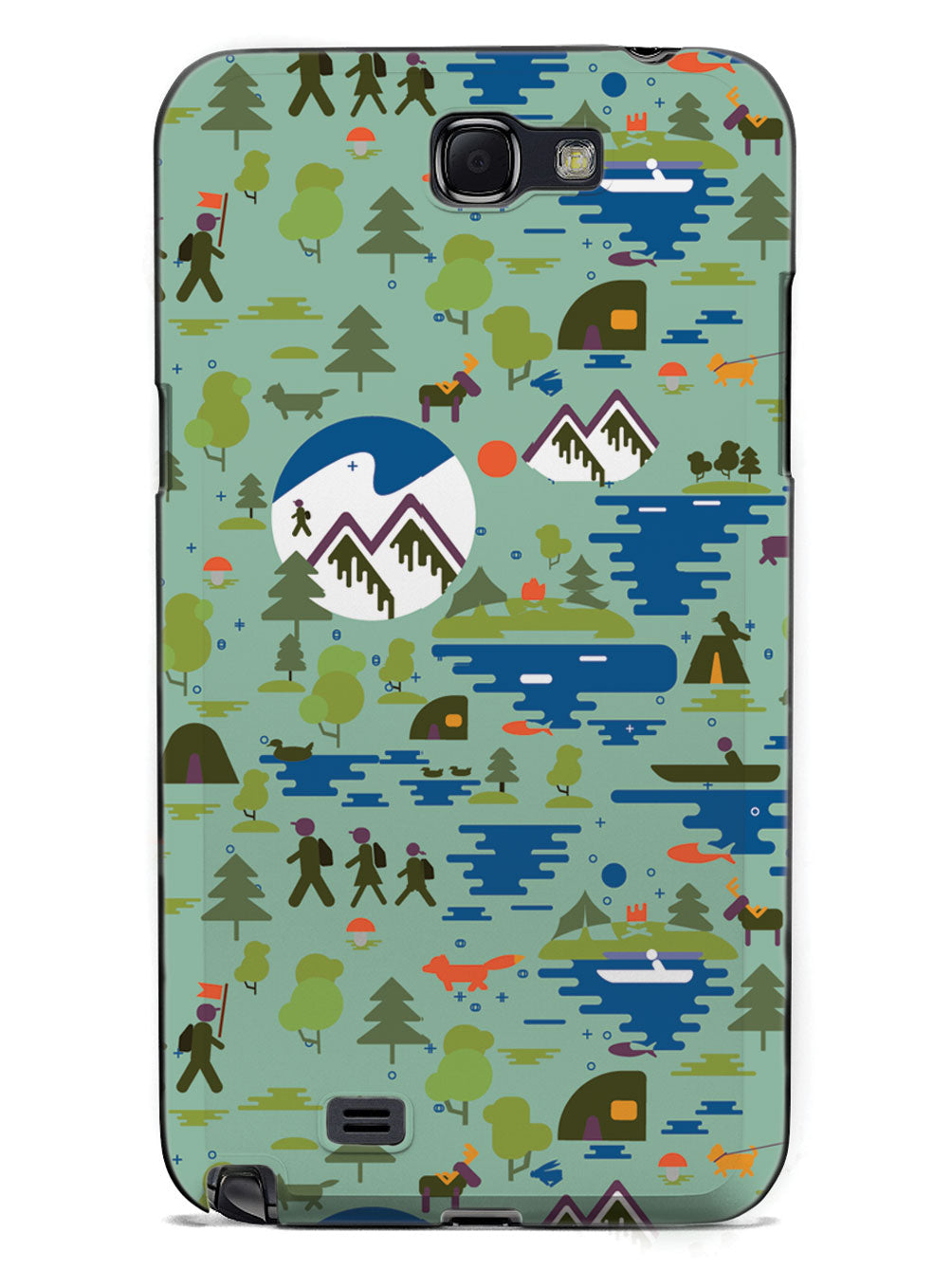 Camping Nature Pattern - Black Case
