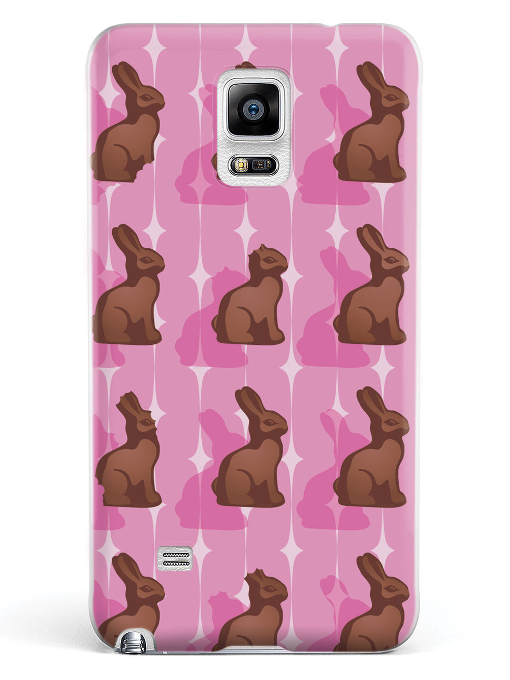 Pink Chocolate Bunny - White Case