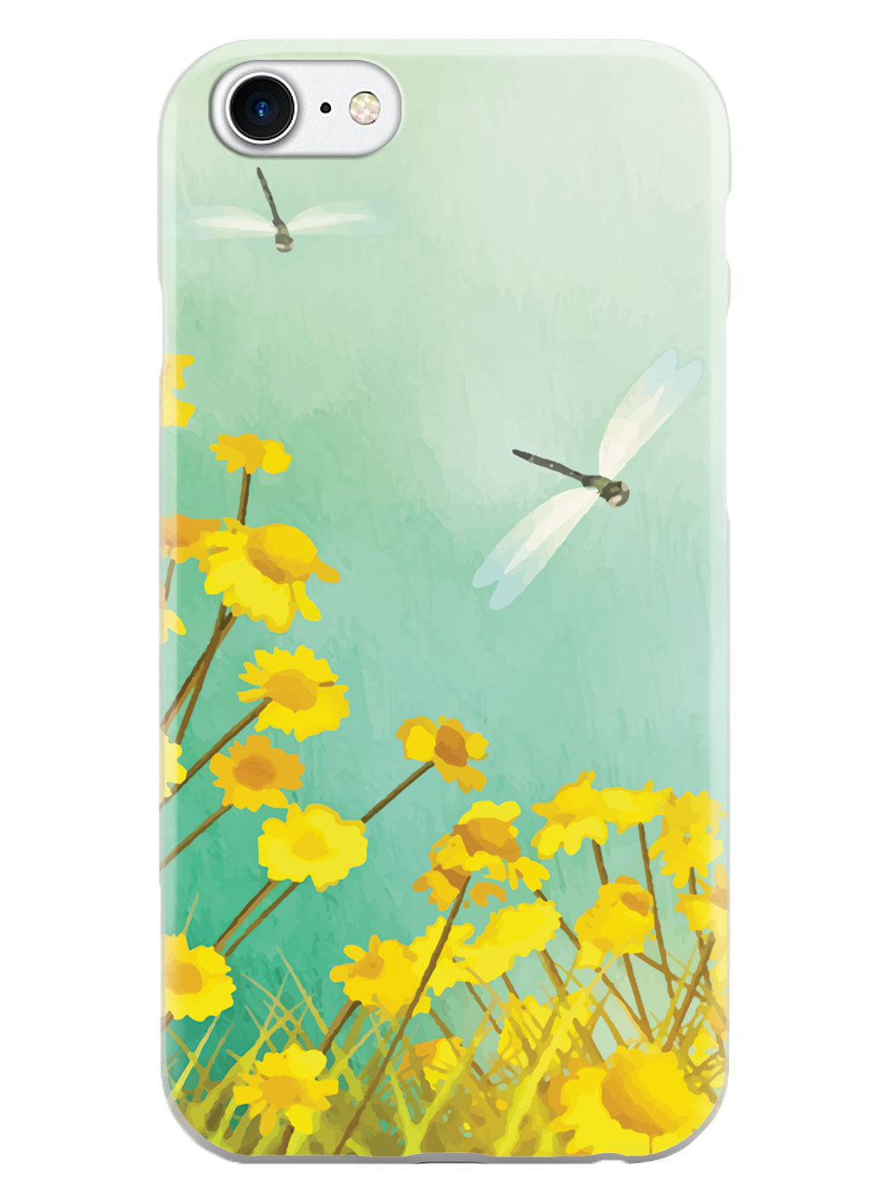 Dragonfly - Flower Painting Case
