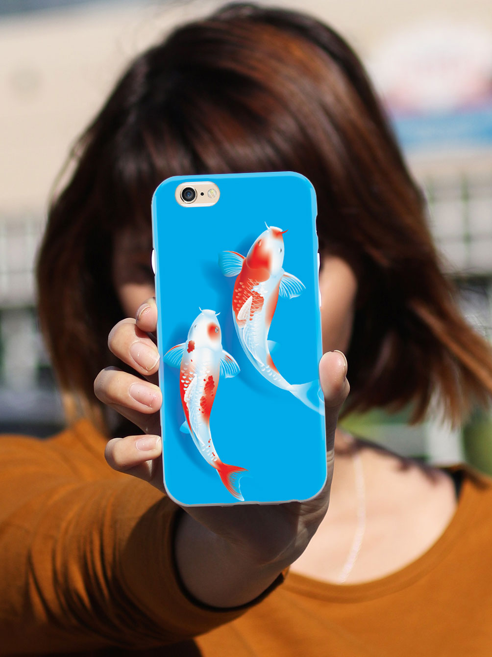 Koi Fish - White Case