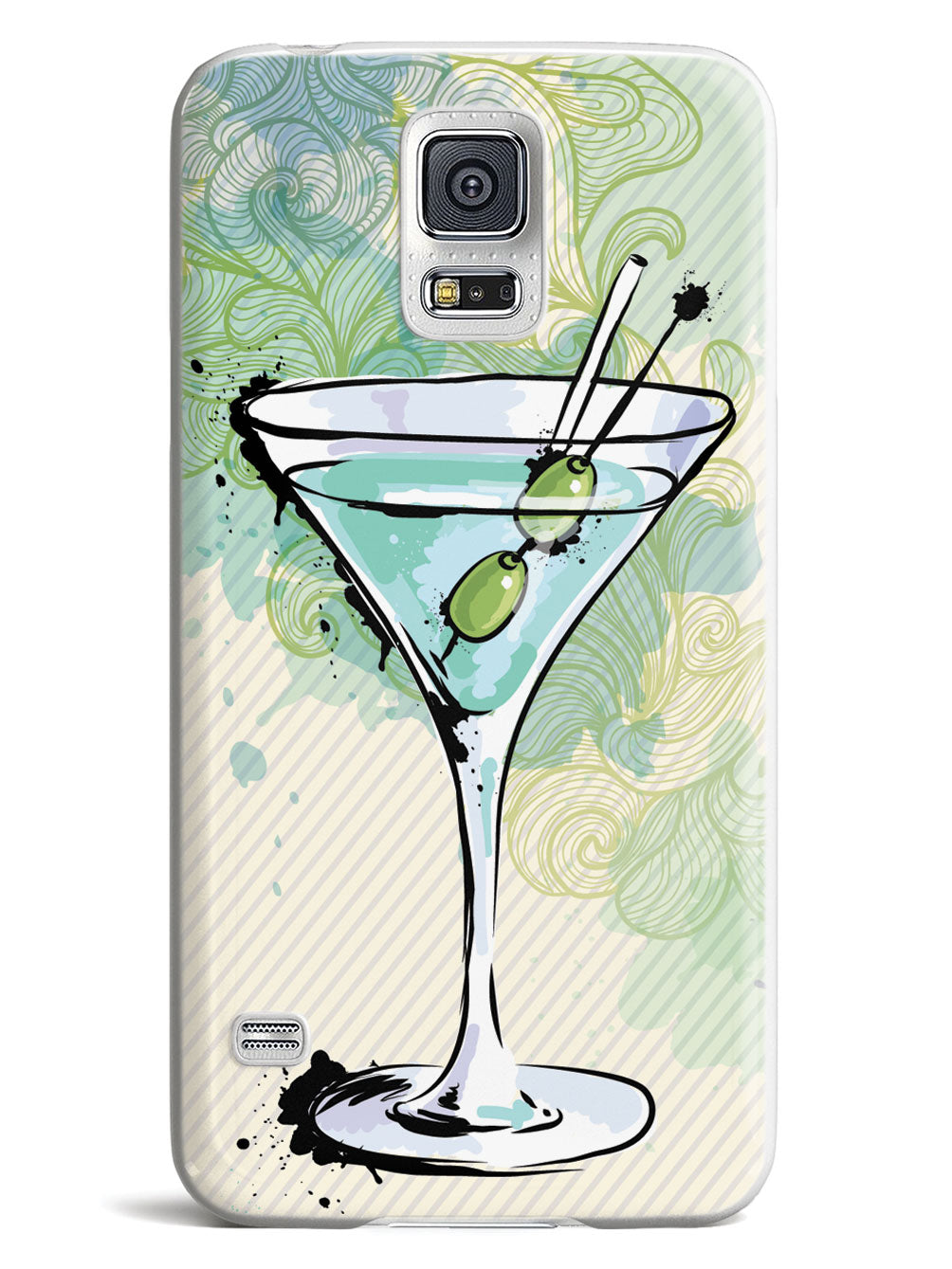 Watercolor Martini - White Case