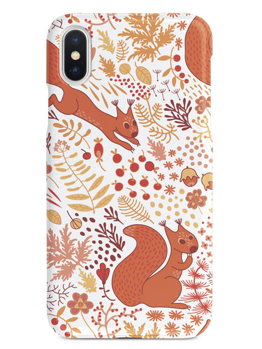 Squirrel Fall Pattern - White Case