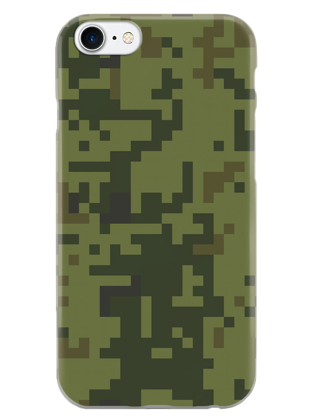 Green Pixel Camouflage  - White Case