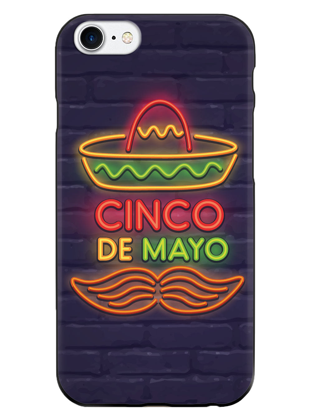 Neon Cinco de Mayo - Black Case