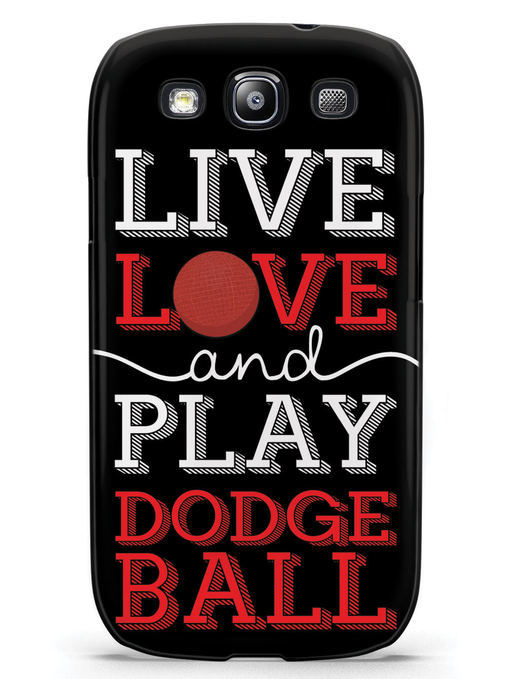 Live Love Play Dodgeball - Black Case