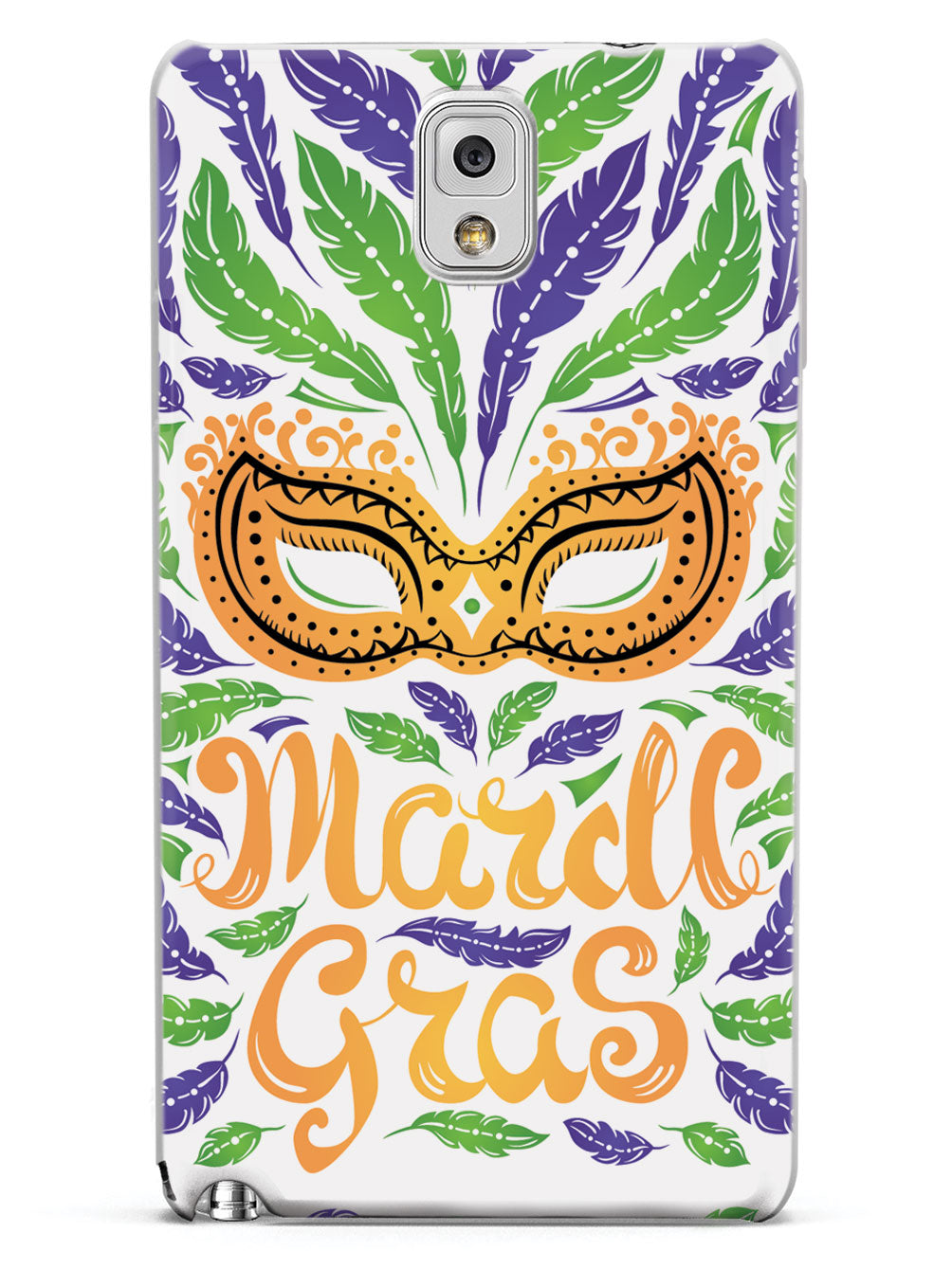 Mardi Gras Mask - White Case