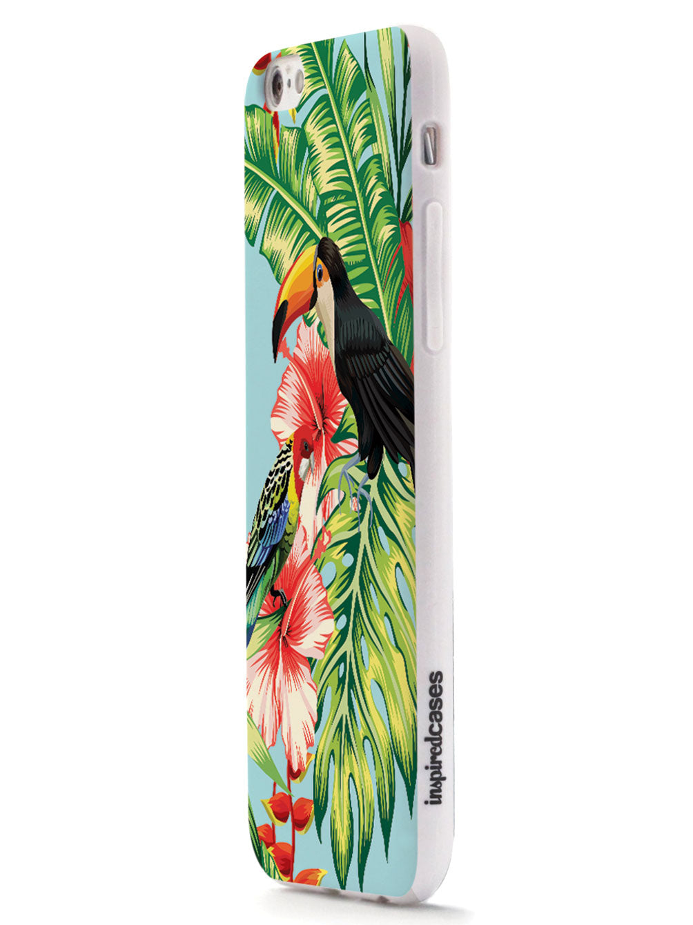 Hibiscus - Parrot and Tucan - White Case