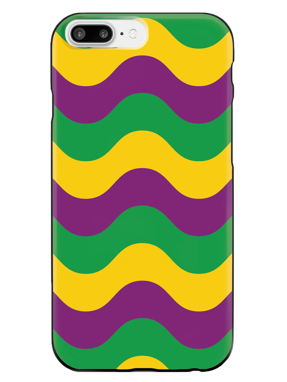 Mardi Gras Wave Pattern - Black Case