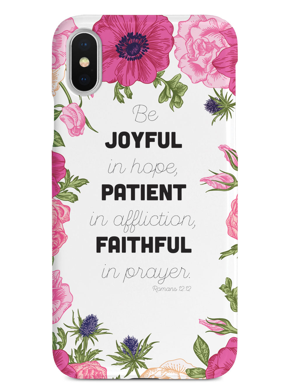 Romans 12:12 - Bible Verse - White Case