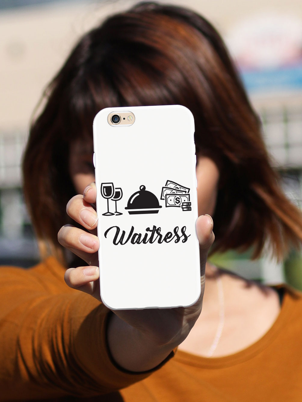 Waitress Icons - White Case