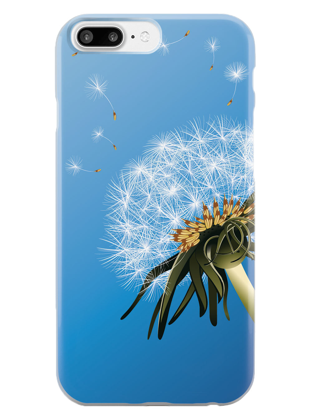 Dandelion Blowing In Wind - White Case
