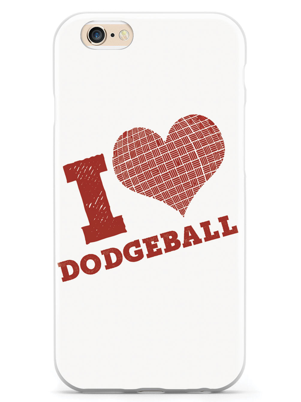 I Heart Dodgeball - White Case