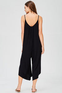 Cappuccino Buttery Draped Jumpsuit