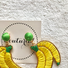 Woven Banana Dangle Earrings