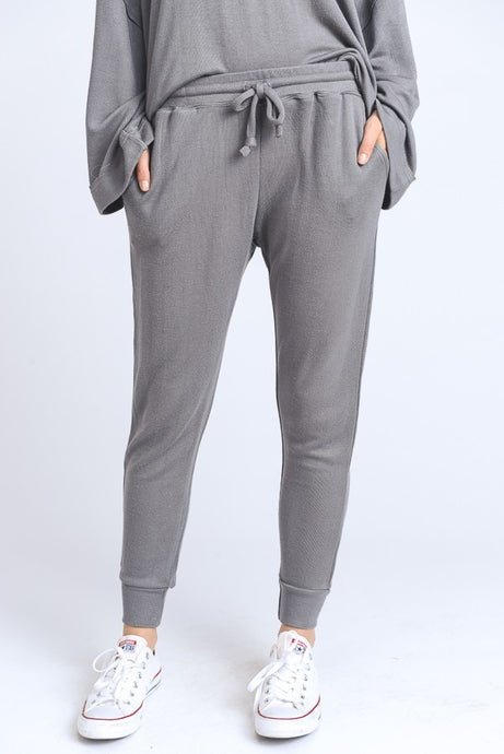 *STOCK RUNNING LOW* Heather Gray Skinny Deluxe Joggers