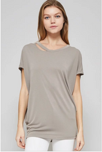 Creamy Mocha Draped Soft Tee