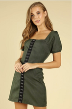 Hook and Eye Dress in Army Green