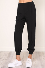 Black Silky Joggers