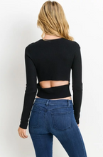 Black Sweater with Cut-Out
