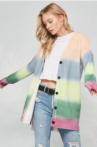 Multi-Colored Knit Cardigan
