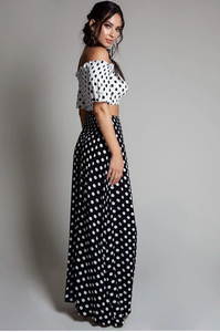 *NEW ARRIVALS DROP* B&W Polka Dotted Set