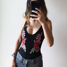 Rose Patch Embroidery Bodysuit