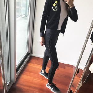 Black Criss-Cross Athletic Leggings