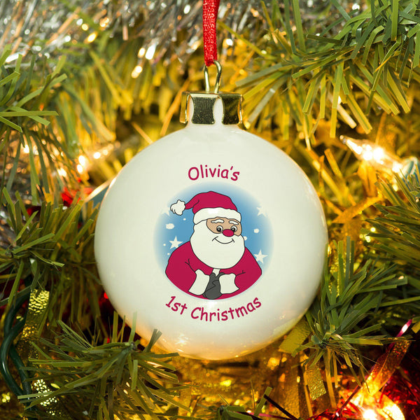 Cartoon Santa Bauble
