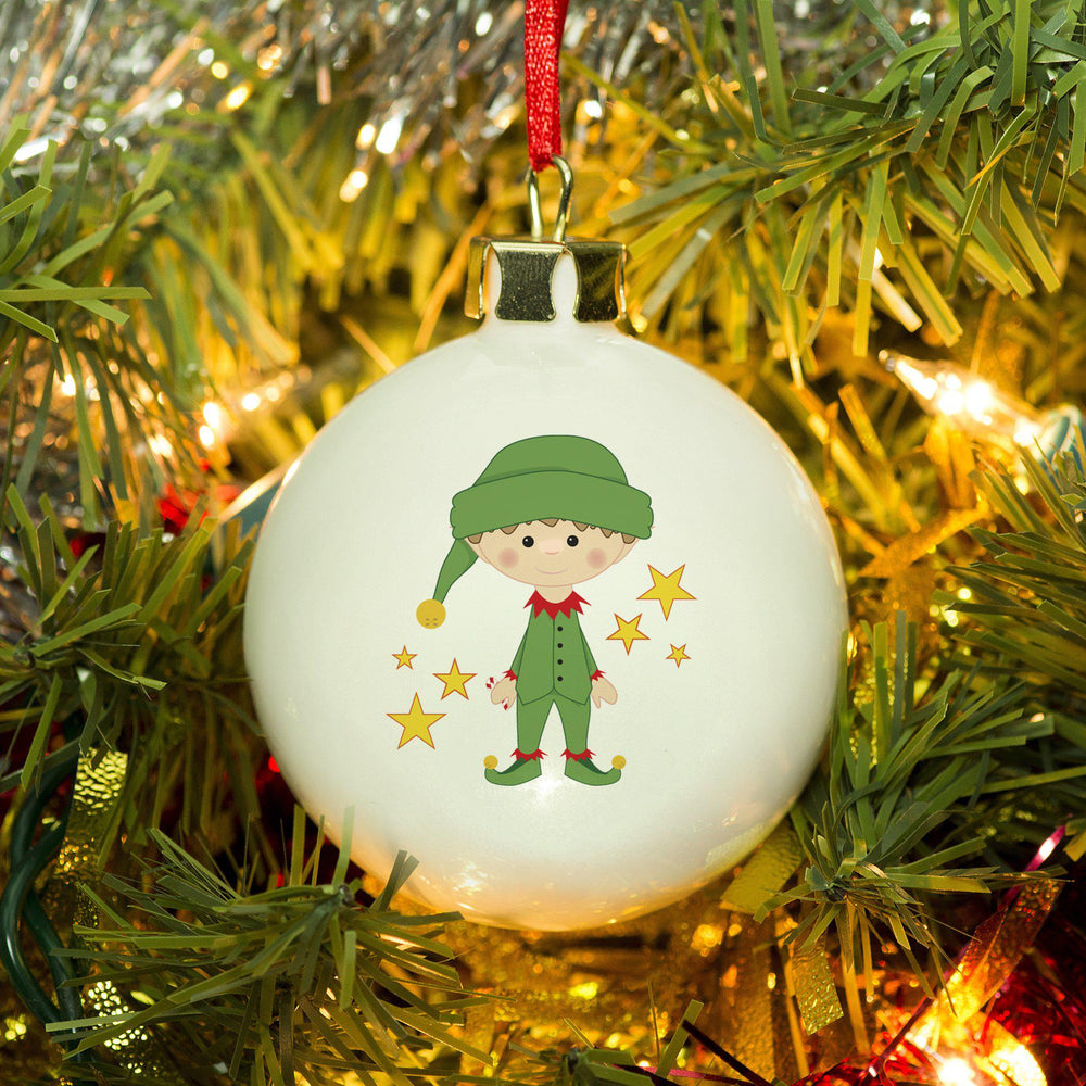 Christmas Elf Bone China Bauble - 3v3rythinguneed
