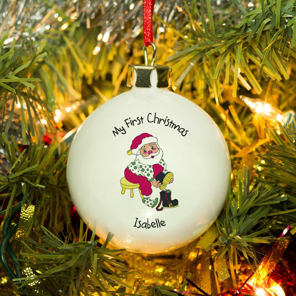 First Christmas Santa Bauble