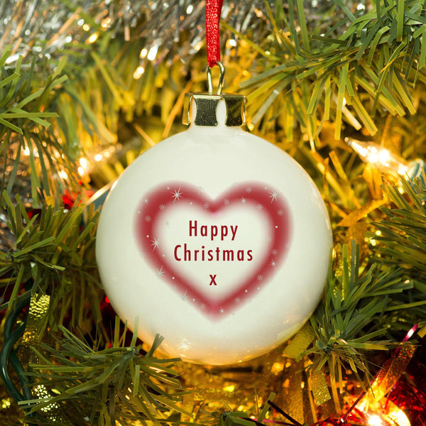 Christmas Heart Bauble