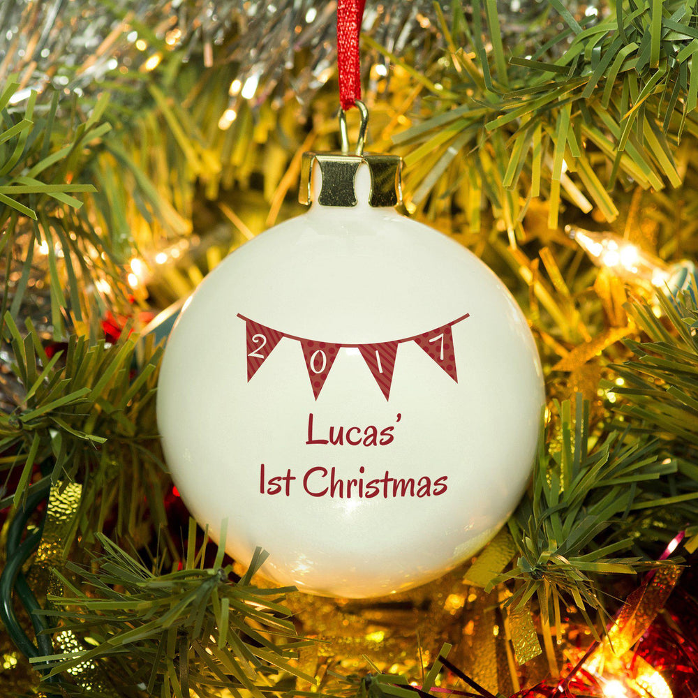 Bunting Christmas Bauble