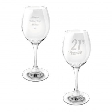 Birthday Banner Wine Glass