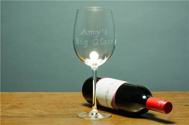 Engraved Giant Wine Glass