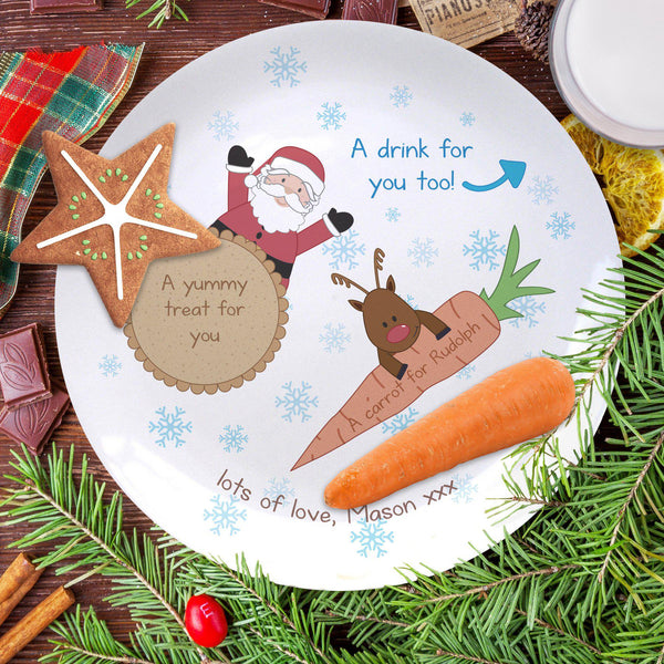 "Treats for Santa And Rudolph 8"" Coupe Plate"