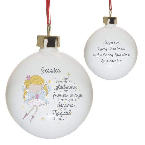 Fairy Princess Bauble - Personalised For Jessica