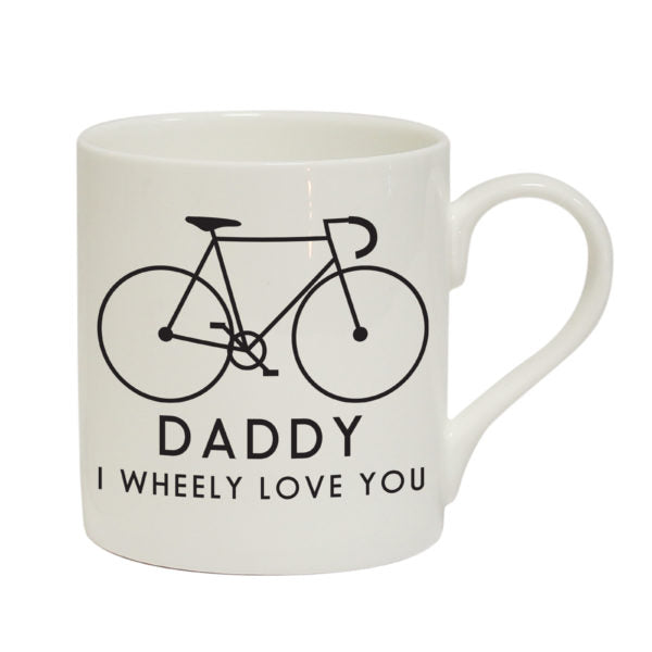 White Mug With a Bicycle picture,